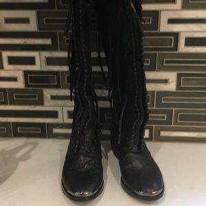 Sam Edelman Shoes - Sam Edelman  Palermo 6 1/2 black fringe boots
